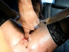 Fisting Both Her Ruined Holes