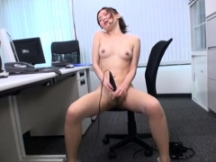 Office beauteous bitch in a wild sex act