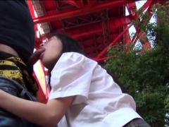 Japanese teen riding