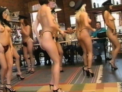 Karen White and her friends do a strip dance for 6 guys