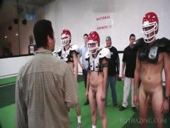 Students Playing Football Naked For Fraternity