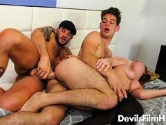 Marcy Marx, Michael Del Ray and Cliff Jensen bi threesome