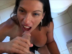 woman blowjob pov