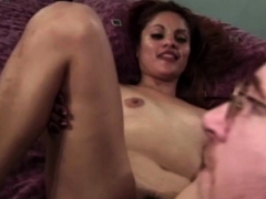 Hairy pussy amateur sucks and gets fucked