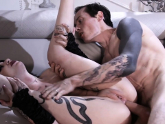 Anlly Toyed Tattooed Goth Gets Ass Fucked