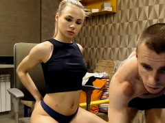 Blonde Teen Gets Fucked Behind By Horny Bf