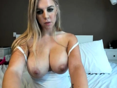 Smoking Busty Slut Loves A Solo Masturbation