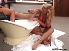 Two Hot Blonde Lesbians Going Crazy Part4