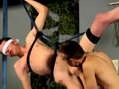 Bondage free gay Blindfolded Bum Boy Damien