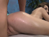 Fuck stick enters love tunnel of a wanton brunette Gia Love