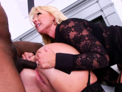 Interracial Anal Threesome With Prolapse