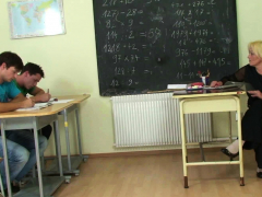 very-old-blonde-teacher-gets-double-dicked-by-young-boys