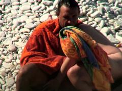 Hidden cam in beach cabin camschat69