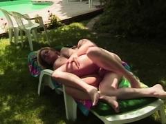 Big Tit Blonde MILF Fucking Outdoors For Fun
