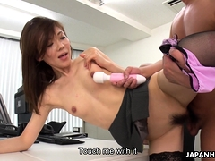 japanese lady boss, mao saitou got fucked, uncensored