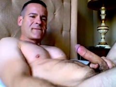 str8-daddy-morning-wank-and-cum-in-his-face