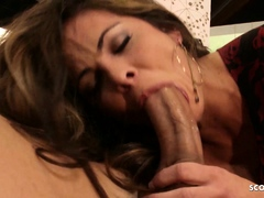 Nymphomanic MILF Seduce Young Guy to Fuck her Rough