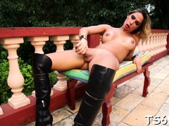 Nasty latin Bianca Hills gets rammed with joy