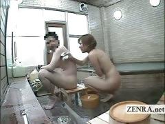 Subtitled Japan Female Exhibitionist Group Bathing Dare