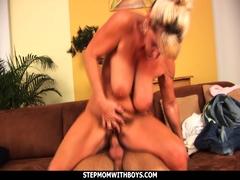 Stepmom Sucks Tits Together With Stepson