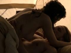 Caitriona Balfe tits in a sex scene
