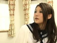 japanese teen in uniform dick riding