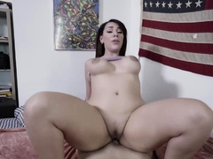 thicc big titted latin stepsis blows and rides stepbros huge dick