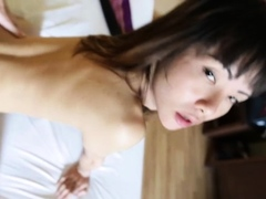 Delightful ladyboy Bee bends over for rear fuck