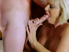 granny fucks with a big penis