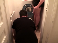 slave-joschi-get-his-soup-from-toilet