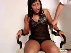 Tied up to the chair and dominated mercilessly