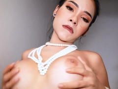 Hot ladyboy puts on her sexiest lingerie
