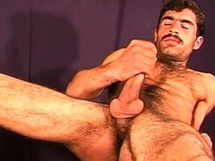 hairy moustached arab solo
