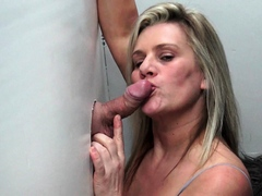 Swinger wives sucking and fucking hard gloryhole cock