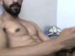 Turkish handsome hunk with big cock cumming