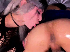 Horny Shemale Couple And A Kinky Chick On Webcam Part 3