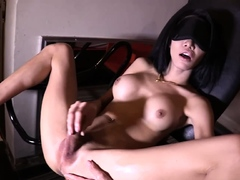 Teen ladyboy Alice sex swing anal fucked