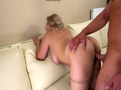 Blonde housewife Lily Luvs HD blowjob and doggystyle