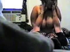 BBW rides some cock on hidden cam