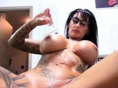 german big tits tattoo milf caught husband