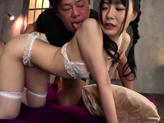 Awesome Asian Coed Blowjob and balls licking