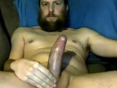Hot Str8 Bearded Daddy with Hot Shaft blows a nice load 19