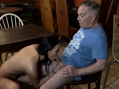 Blowjob Cum On Tits And Blonde Teen Pussy Fits Like Glove