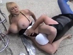 catfight mixed wrestling with monster busted shelly humil