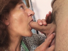 old slut rides a monster young cock