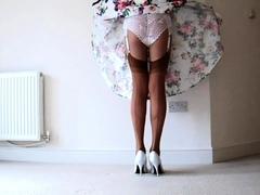 rockabilly-dress-lace-panties