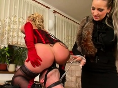 Hard fetish act with a hottie getting sexy a-hole whipped
