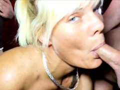 Creampie Gangbang Party with German Skinny MILF Stacy Lou