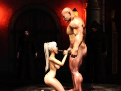 A hot college hottie gets fucked by a monk