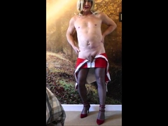 Sissy bitch tgirl Christine stripping